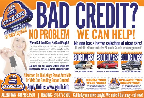 JD Byrider Auto Dealer Print Ad Design