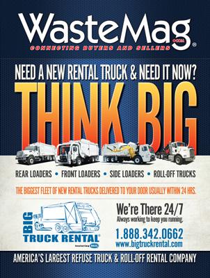Big Truck Rental Waste Magazine Print Ad Design
