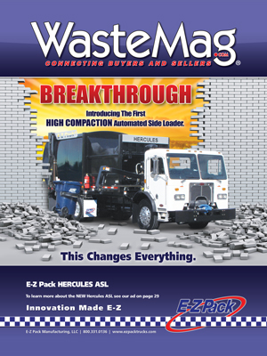 E-Z Pack Waste Industry Magazine Cover Print Ad Design
