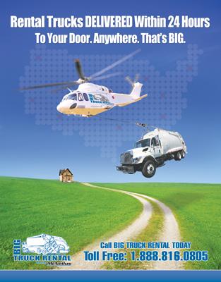 Big Truck Rental Print Ad Design