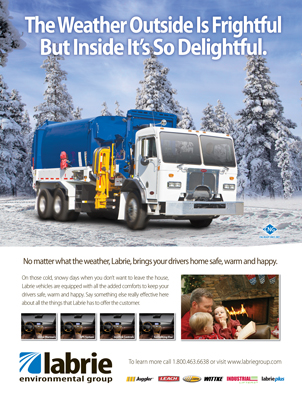Labrie Environmental Waste Industry Print Ad Design