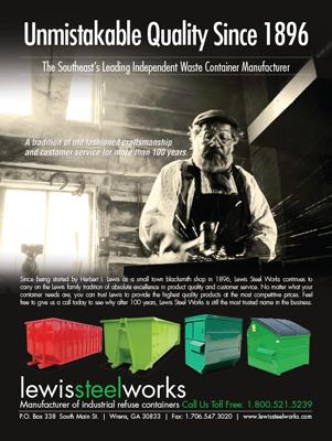 Lewis Steel Works Magazine Print Ad Design