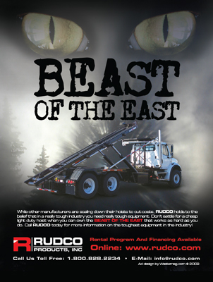 Rudco Products Waste Industry Magazine Print Ad Design