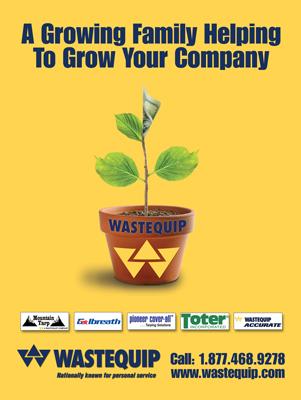 Wastequip Industry Magazine Print Ad Design