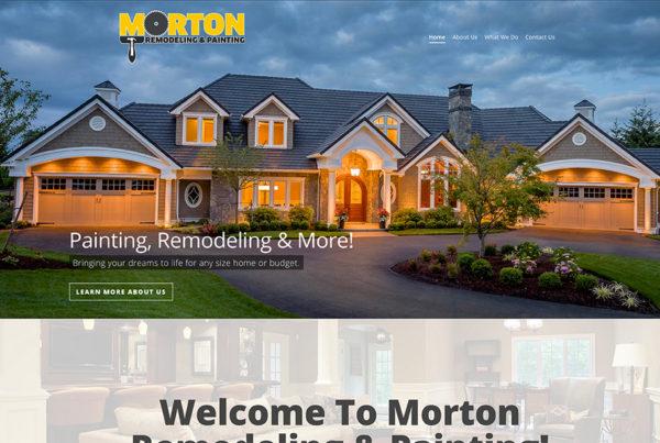 Custom Builder Website Design Morton Remodeling