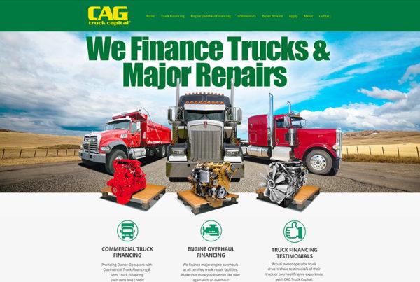 Finance Company Website Design - CAG