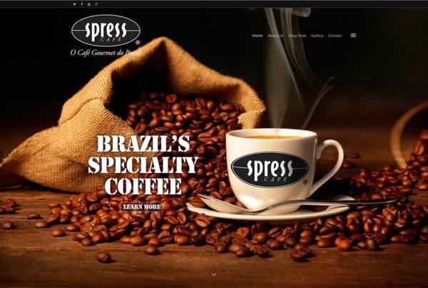 Coffee company website design