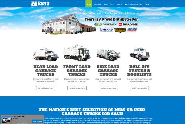 Truck Dealership website design