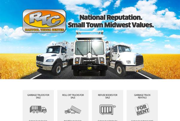 Truck Dealership website design for Rantoul Truck