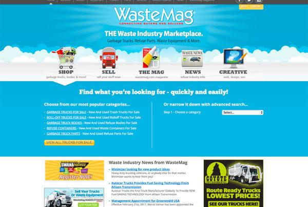 Waste Industry Website Design - Wastemag
