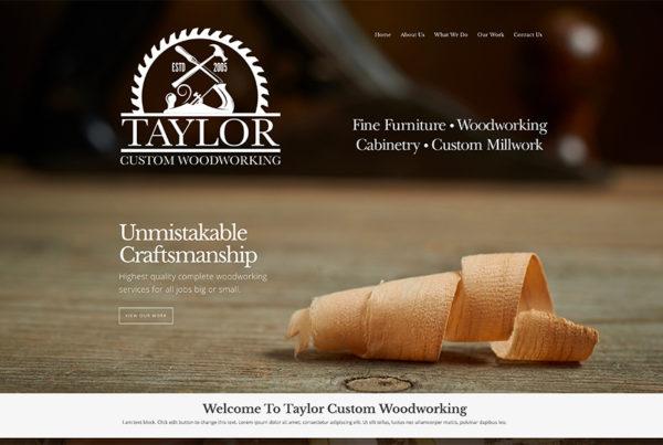 Woodworking company website design