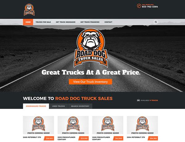 Road Dog Truck Sales Website Design