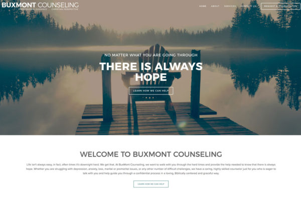 Website Design for Bucks Mont Counseling Center