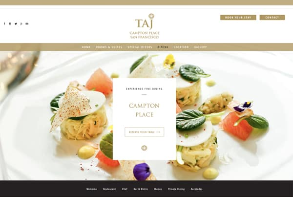 Restaurant Website Design Project