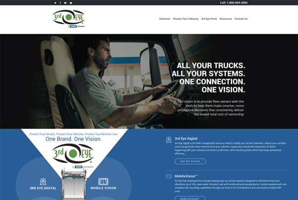 Technology Company Website Design By Double Vision Media Group