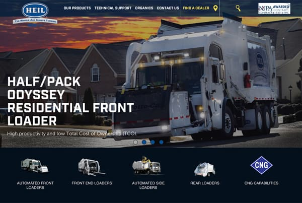 Heil Refuse Trucks Website Design