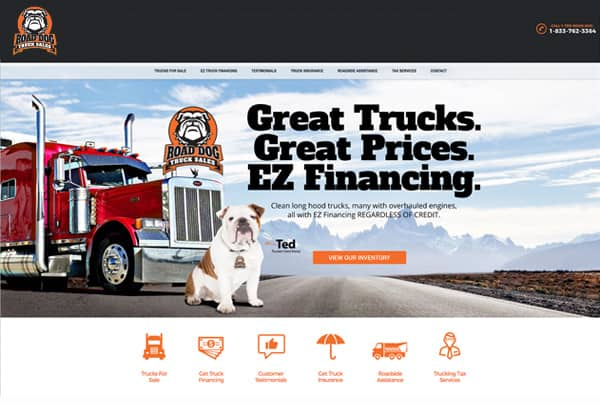 Road Dog Truck Sales Website Design