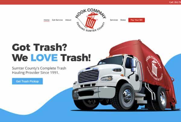 Waste Hauler Website Design - Hookco