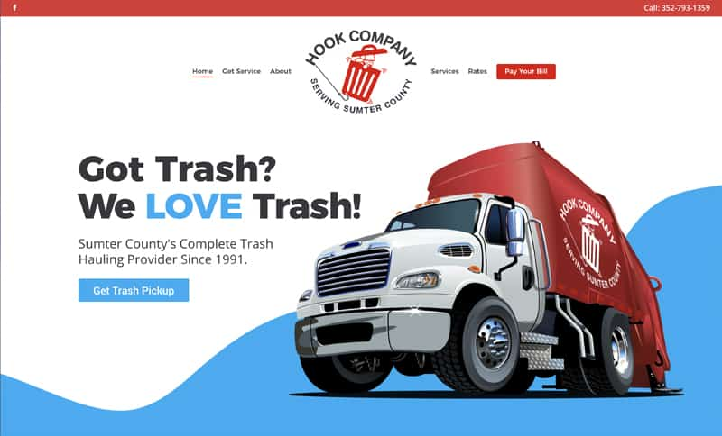 Waste Hauler Website Design - Hookco