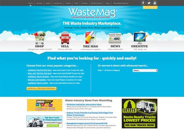 Waste Industry Website Design – Wastemag